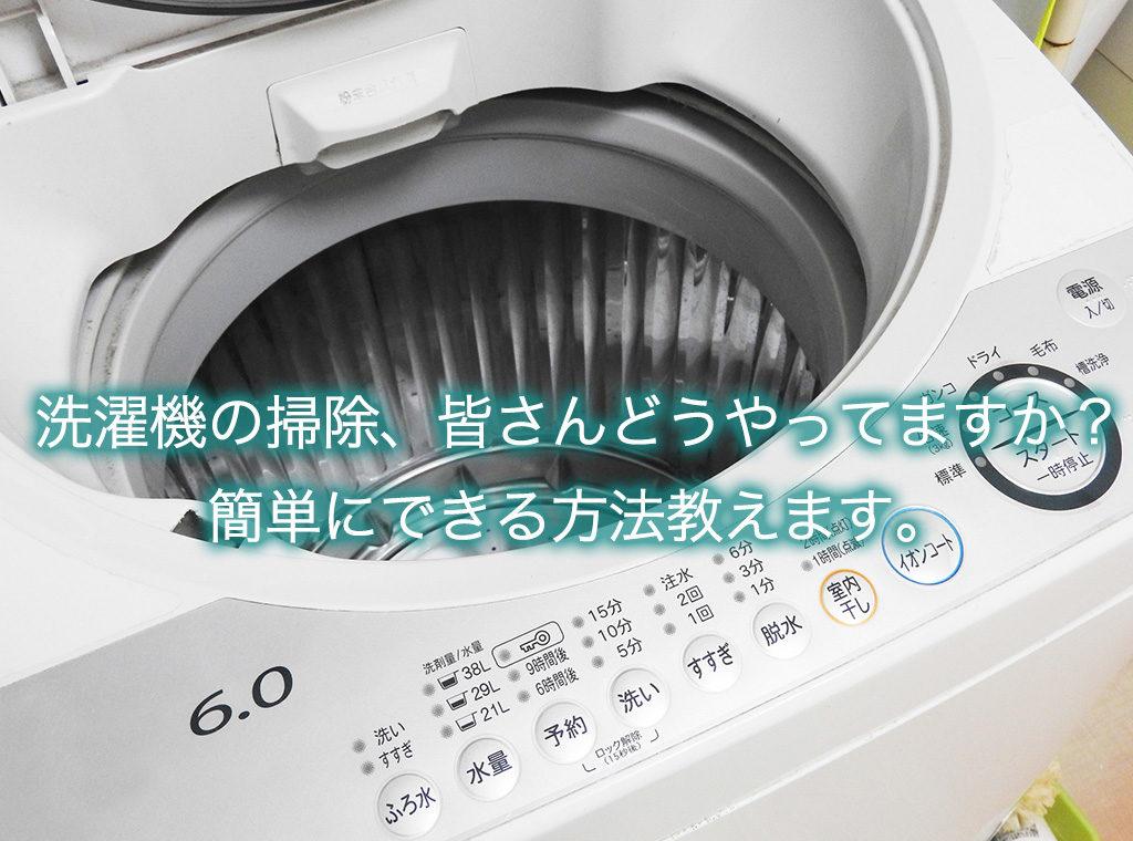 洗濯機の掃除、皆さんどうやってますか?簡単にできる方法教えます。